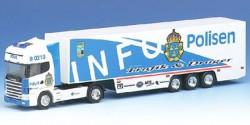 Scania 144 Koffersattelzug Polisen Schweden