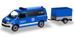VW T6 Bus mit Pritschenanhänger THW Korbach / Höhenrettung